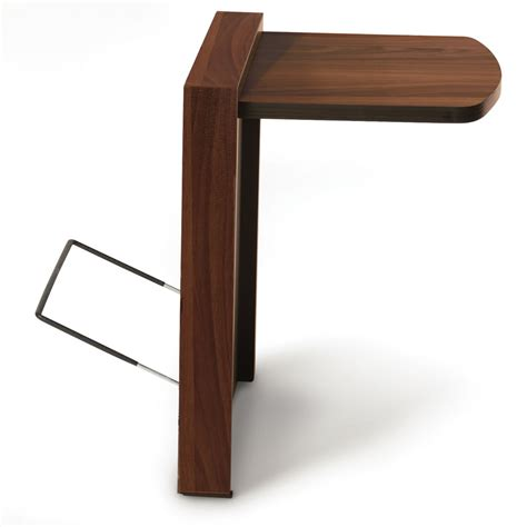 fold away end table the foldaway end table hammacher schlemmer