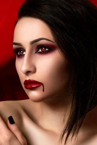 glam  sexy vampire makeup ideas