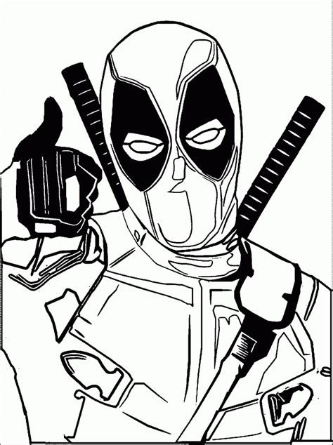 deadpool coloring pages for adults deadpool coloring page free printable incredible pages