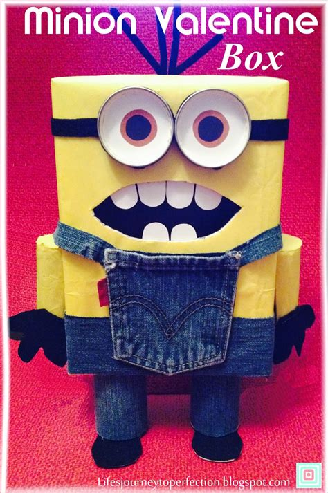 how to make a minion valentines day box s journey to perfection minion s box