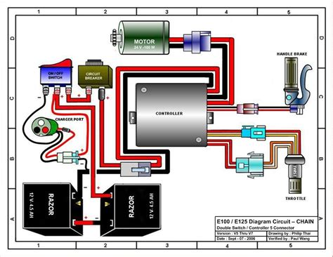 razor mod scooter wiring diagram razor scooter steering