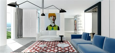 funky living room simple yet modern interiors from 2 b group