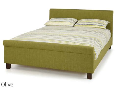 Fabric Sleigh Bed Serene Hazel Fabric Sleigh Bed Frame Buy At Bestpricebeds