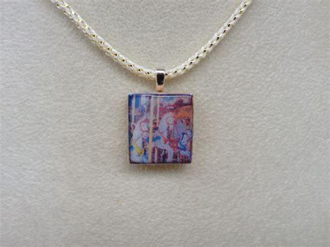scrabble tile pendant scrabble tile pendant necklace carousel horses
