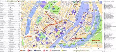 printable map copenhagen maps update 18201224 tourist map of copenhagen large