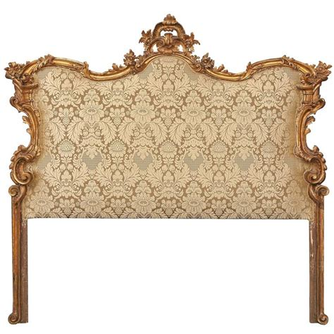 Baroque Bed Frame Italian 18th Century Baroque Upholstered Mecca Headboard At 1stdibs