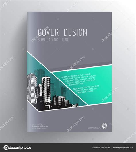 book covers design templates book cover design template with skyscrapers stock