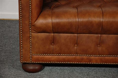 distressed chesterfield sofa 1960 s leather chesterfield sofa in distressed leather at 1stdibs