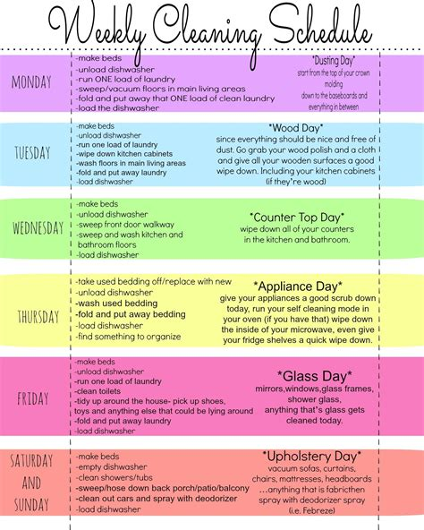 printable uk schedule my quirky weekly cleaning chart free printable cleaning