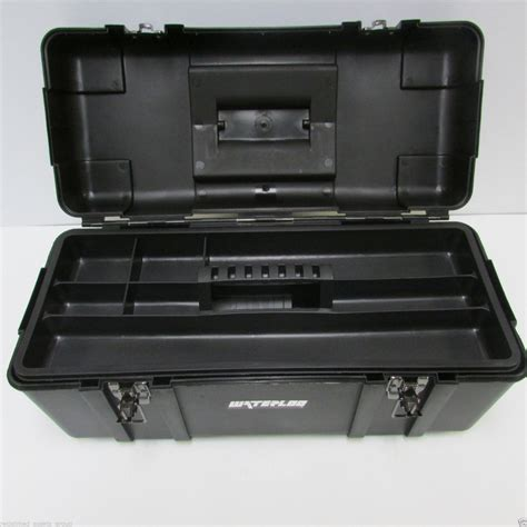 Tool Box Shelf by New Waterloo Pp 2310bk Plastic Portable Tool Box W Pull