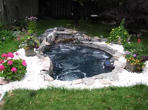 backyard spa parts thinking of a large in ground spa with a waterfall feature