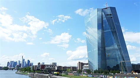 frankfurter bank frankfurt new ecb building and skyline tl stock footage