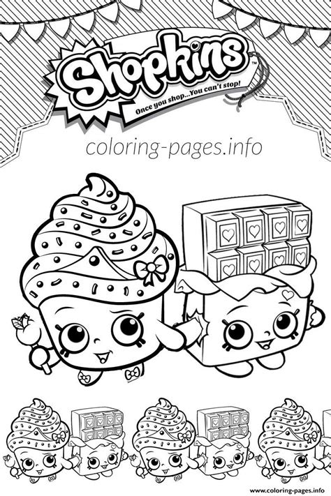 shopkins cupcake cheeky chocolate coloring
