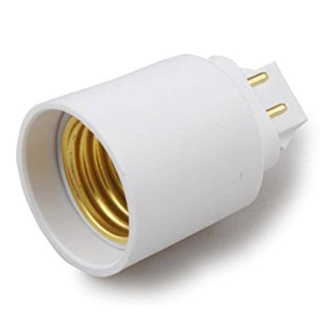 g24 to e27 e26 4 pin led light sockets adapter light bulb