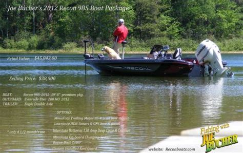 recon boat prices 2012 recon 985 fishing boat for sale in eagle river wi