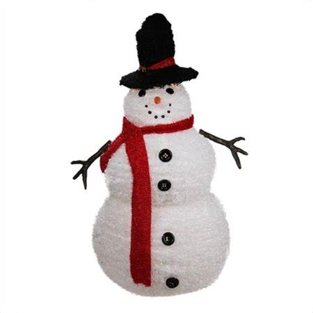 4 ft snowman christmas tree northlight 4 ft lighted 3 d chenille winter snowman with top hat outdoor yard
