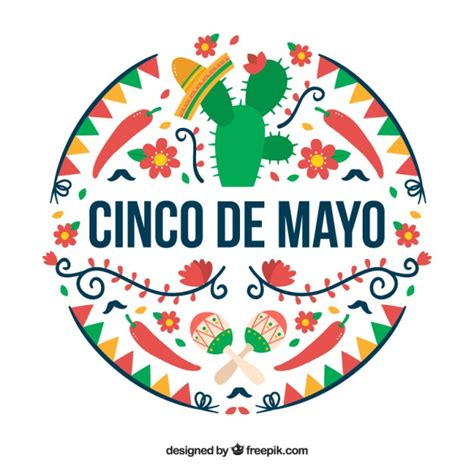 cinco de mayo background coloured cinco de mayo background vector premium
