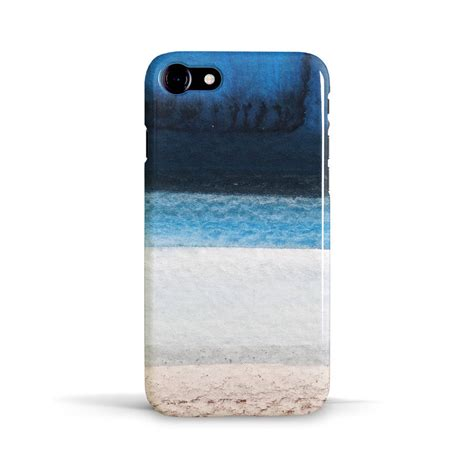 ocean beach phone case design  blue white  brown  giant sparrows notonthehighstreetcom