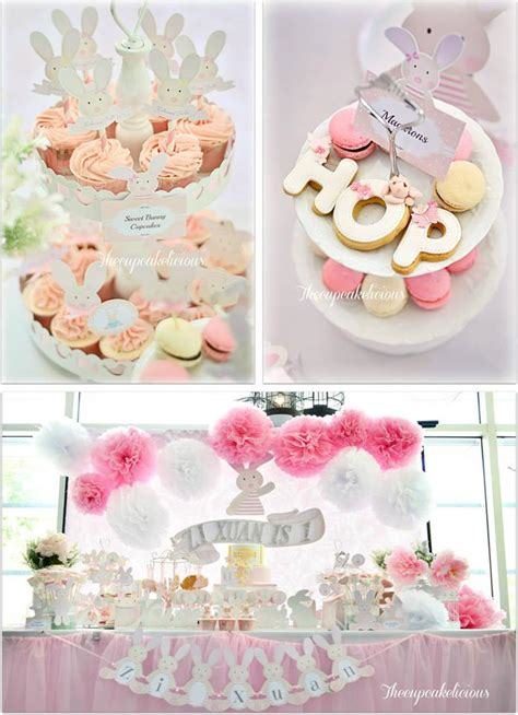 karas party ideas shabby chic bunny party planning ideas supplies idea cake decorations