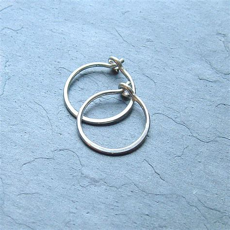 Handmade Sterling Silver Hoop Earrings - small sterling silver hoop earrings handmade silver hoops