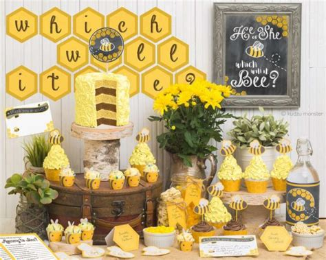 Baby Shower Gender Reveal Themes by Bumblebee Gender Reveal Baby Shower Baby Shower Ideas