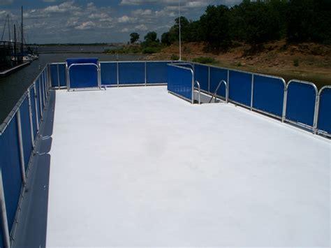 boat rail canvas houseboat refurbishing custom boat railing build a