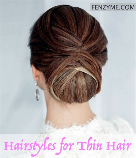 Easy Hairstyles For Thin Hair by Easy Hairstyles For Thin Hair Caroldoey