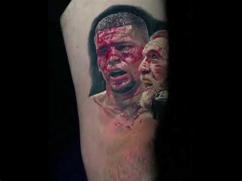 conor mcgregor vs nate diaz tattoo youtube