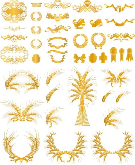 european gold pattern vector european style gold pattern decorative elements vector