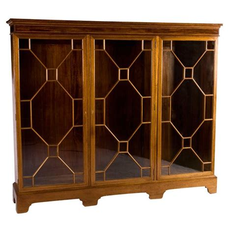 Glass Fronted Bookcases by Chippendale Glass Fronted Bookcase For Sale At 1stdibs