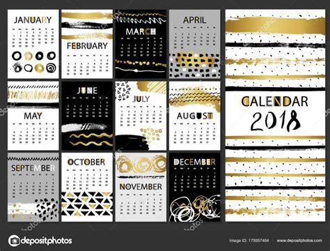 fashion illustration calendar 2018 creative fashion calligraphic calendar 2018 vector collection of black