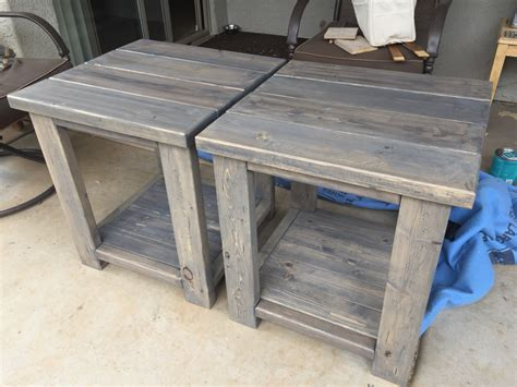 2x4 end table 2x4 end tables made from scrap left pieces boards
