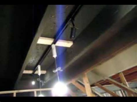 Painted Basement Floor - basement ceiling and lighting idea youtube