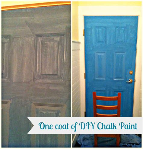 diy chalk paint metal diy a more chalk paint our laundry room door