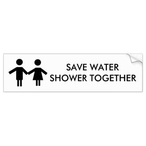 Shower Together by Save Water Shower Together Bumper Stickers Zazzle