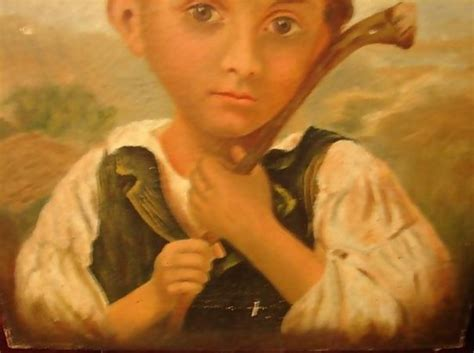 Overall Kyara Real Pict Ori Faufaubutik 19th century on canvas child in primitive setting for