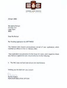 Rfp Decline Letter Exles Photo Sle Rejection Letter For Business Images