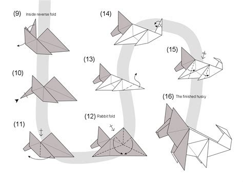 How To Make A Origami Wolf Step By Step - origami aga luczakowska s