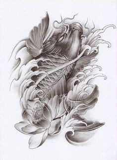 black dragon tattoo urbana koi fish tattoo half sleeve black and grey jpg 767 215 1042