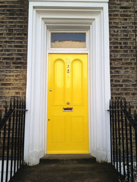 Georgian Front Doors With Fresh Yellow And White Frame Georgian Front Doors