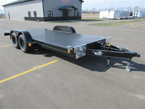 tilt bed car trailer 2018 nation tilt bed open car hauler w hydraulic dampening custom enclosed and open