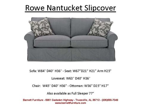 rowe nantucket slipcover pin by barnett furniture on average size sofas 84 quot 89