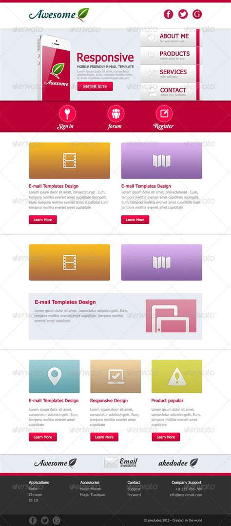 awesome e mail template design vol 1 by akedodee