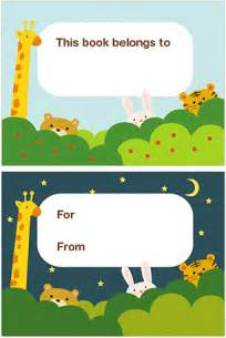 Free Printable Bookplates Templates by Printable Bookplates With Hiding Animals Flickr Photo