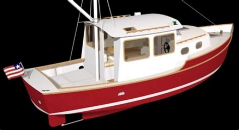 boat plans trawler trawler 28 woodenboat magazine