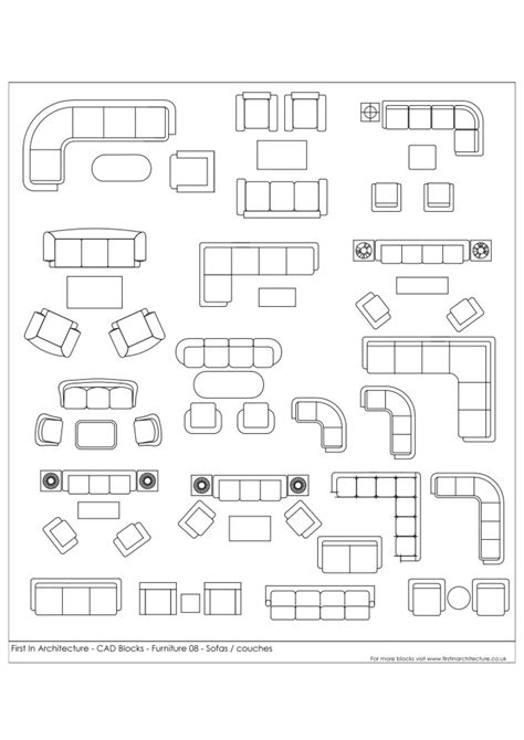 printable millimeter block free cad blocks sofas and couches