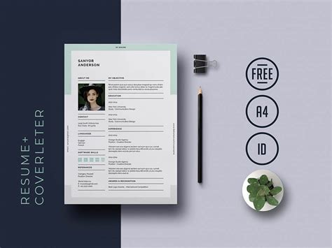 universal indesign resume template matching