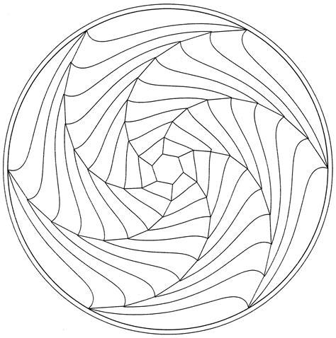 Spiral Mandala Coloring Pages | free coloring pages of spiral mandala