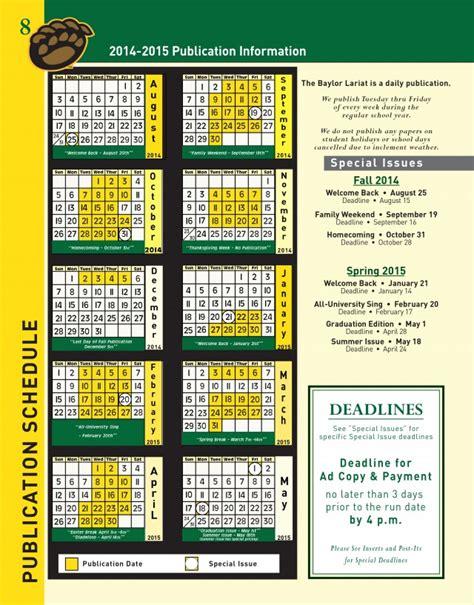 Baylor Calendar Baylor Academic Calendar Fall 2016 Calendar Template 2016