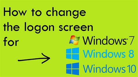 how to reset ip2770 for windows 7 how to change the logon screen for windows 7 8 and 10